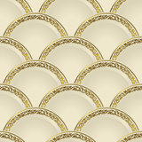 Vintage seamless pattern of white gradient plates