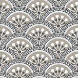 Vintage seamless pattern with gray circles