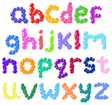 Lower case bubbles alphabet