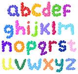 Lower case bubbles alphabet