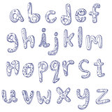 Lower case doodle alphabet