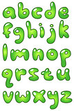 Lower case eco bubble alphabet