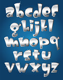 Lower case silver alphabet