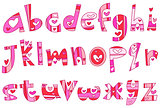 Lower case love alphabet