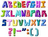 Multicolor letters