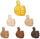 thumbs up hand emoji