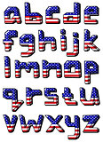 usa small alphabet