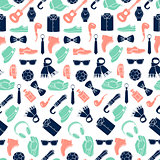 Vector illustration pattern of fashion accessories and men clothing style
