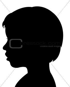 a boy head silhouette vector