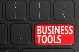 Business Tools on black keyboard
