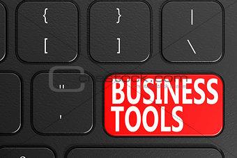 Business Tools on black keyboard