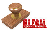 Illegal wooded seal stamp