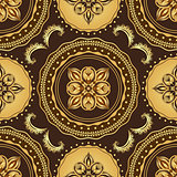Golden and brown seamless pattern