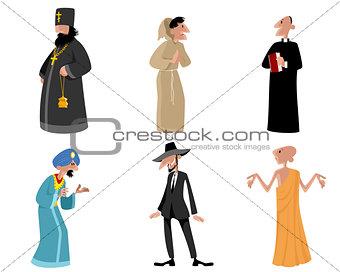 Six religious figures