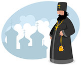 Orthodox priest with censer