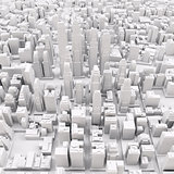 White modern city