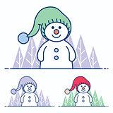 Snowman Flat Design