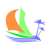 Symbolic image of a sailboat the Islands
