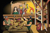 Vikings feast