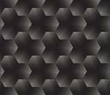 Vector Seamless Black and White Stippling Halftone Gradient Pattern