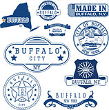 Buffalo, New York. Set of stamps and signs.