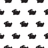 Rabbit black and white kid pattern.