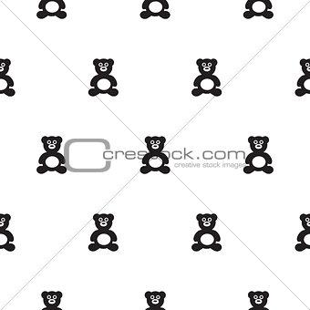 Bear black and white kid pattern.