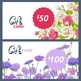 gift card with colorful flowers