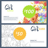 gift cards with flowers