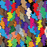 Oak leafs seamless vector background