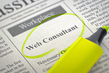 Now Hiring Web Consultant. 3D.