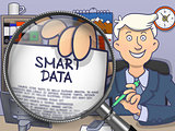 Smart Data through Magnifier. Doodle Style.