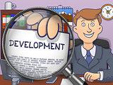 Development through Lens. Doodle Design.