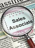 Job Opening Sales Associate. 3D.