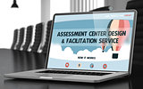 Assessment Center Design and Facilitation Service Concept. 3D.