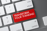 Transform Your Thinking Key. 3D.