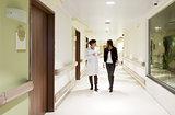 hospital corridor doctor patient