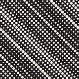 Vector Seamless Diagonal Halftone Circle Lines Pattern