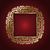 Elegant gold frame