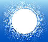 Blue Christmas Snowflake Wreath. Vector illustration EPS10