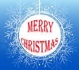 Blue Christmas Snowflake Wreath. Vector illustration EPS10