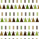 vector seamless pattern in modern Scandinavian style. geometry background