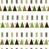 vector seamless pattern in modern Scandinavian style. geometry background