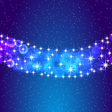 Stars and night sky. Vector eps10 illustration.