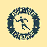 The emblem fast delivery, vector illustration.