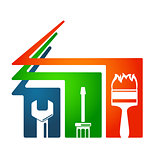 Home repairs tool symbol