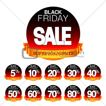 Black Friday Sale Stickers