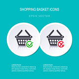 Vector shopping basket icons