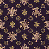 Seamless pattern rich dear background.