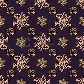 Seamless pattern rich dear background.